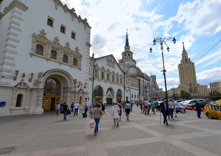 leningradskaya: MOSCOW, RUSSIA - 17.06.2015. Kazansky railway station. Built in 1862.