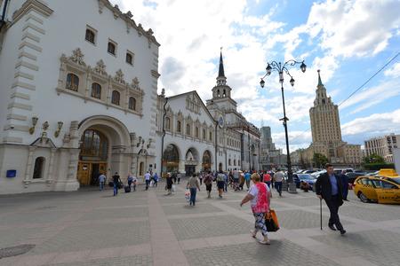 kazansky: MOSCOW, RUSSIA - 17.06.2015. Kazansky railway station. Built in 1862.
