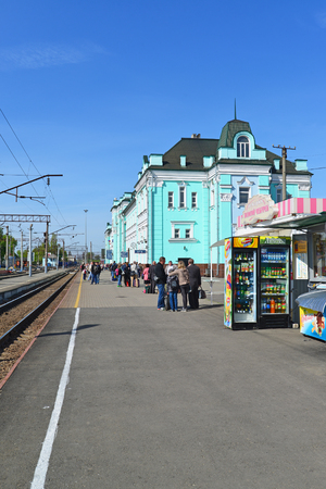 parting: GRJAZI, RUSSIA - 28.08,2015. Train Station - a major railway hub in the South-Eastern Railway