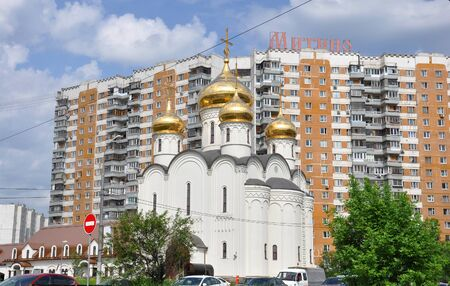tabernacle: MOSCOW, RUSSIA - 05.29.2015. The temple in honor of the All-Merciful Saviour in Mitino