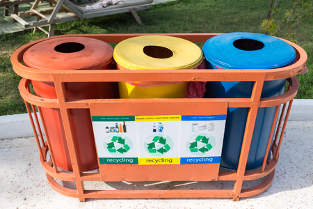 utilize: Garbage containers for a separate waste collection