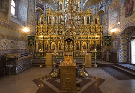 SUZDAL, RUSSIA - 06.11.2015. The iconostasis in the Church of the Assumption. Golden ring Editorial