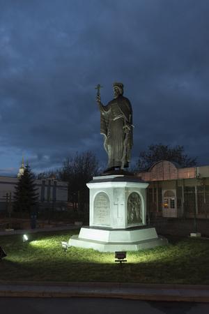 vladimir: VLADIMIR, RUSSIA -05.11.2015. The monument Duke Vladimir, founder of the city and the Baptist of Russia