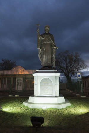 founder: VLADIMIR, RUSSIA -05.11.2015. The monument Duke Vladimir, founder of the city and the Baptist of Russia
