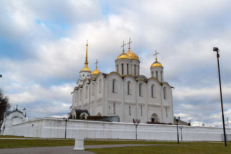 unesco: Uspensky Cathedral - UNESCO World Heritage Site. A Golden Ring of Russia travel. Vladimir, Russia