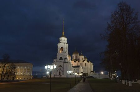 vladimir: Uspensky Cathedral . A Golden Ring of Russia travel. Vladimir, Russia Stock Photo