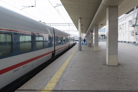 highspeed: MOSCOW, RUSSIA -01.11.2015. High-speed train at a Kursky station
