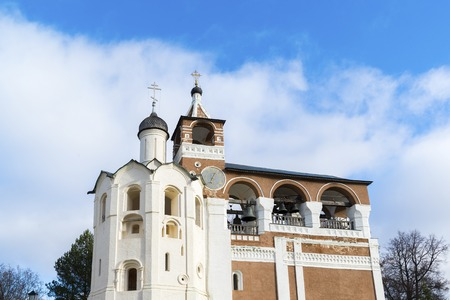 saviour: Belfry Saviour Euthymius monastery in Suzdal was built in the 16th century, the Golden Ring of Russia Travel Stock Photo