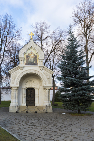 sanctity: The tomb of Prince Pozharsky in Spaso Efimievskom monastery in Suzdal, built in 1885. Golden Ring of Russia Travel Stock Photo