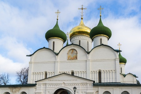 built: Transfiguration Cathedral in St. Euthymius monastery in Suzdal was built in the 16th century. Golden Ring of Russia Travel