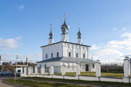 Suzdal, Russia -06.11.2015. Petropavlovskaya Church in Suzdal was built in a 1694. Golden Ring of Russia Travel Editorial