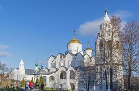 pokrovsky: Suzdal, Russia -06.11.2015. St. Pokrovsky Monastery was built in the 16th century. Golden Ring Travel Editorial