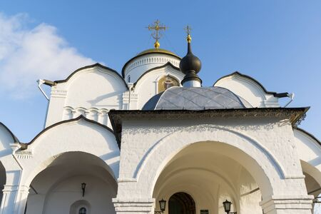 sanctity: Cathedral at St. Pokrovsky Monastery was built in  a 16th century in Suzdal . Golden Ring Travel of Russia