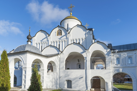 pokrovsky: Cathedral at St. Pokrovsky Monastery was built in  a 16th century in Suzdal . Golden Ring Travel of Russia