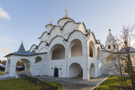 16th century: Cathedral at St. Pokrovsky Monastery was built in  a 16th century in Suzdal . Golden Ring Travel of Russia
