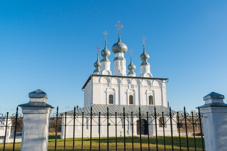 built: Petropavlovskaya Church in Suzdal was built in a 1694. Golden Ring of Russia Travel Stock Photo