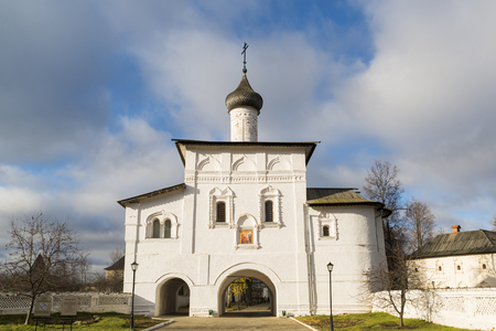 16th century: The Gate Church of the Annunciation at Suzdal was built the 16th century. Golden Ring of Russia Travel