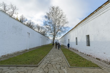 gaol: Suzdal, Russia -06.11.2015. The prison on the territory of   St. Euthymius monastery in Suzdal. Golden Ring of Russia Travel