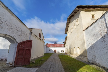 pokey: Suzdal, Russia -06.11.2015. The prison on the territory of   St. Euthymius monastery in Suzdal. Golden Ring of Russia Travel