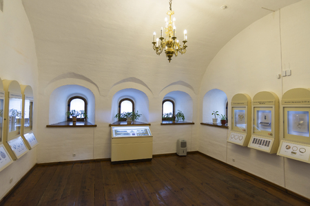 tabernacle: Suzdal, Russia -06.11.2015. Exhibition of Russian Icons in a St. Euthymius monastery in Suzdal. Golden Ring of Russia Travel Editorial