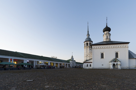 visitors area: Russia, Suzdal - 06.11.2011. Trade area - the historic center of the city is part of the Golden Ring Travel