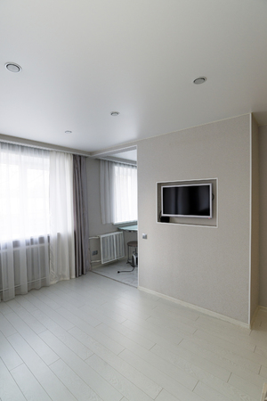 lowboard: Modern living-room with a TV and hifi equipment