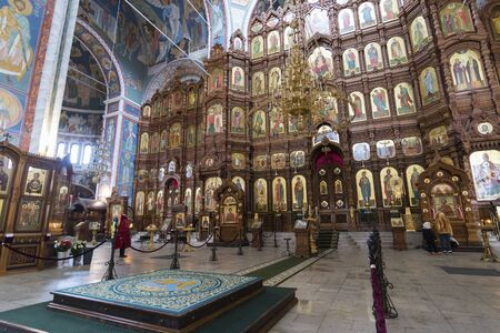 nizhny novgorod: Nizhny Novgorod, Russia - 03.11.2015. The interior of Cathedral of St. Alexander Nevsky in Nizhny Novgorod, Russia. 19th century Editorial