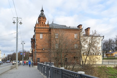 duma: VLADIMIR, RUSSIA -05.11.2015. A Building of the former City Duma on Bolshaya Moskovskaya Street - Historic downtown