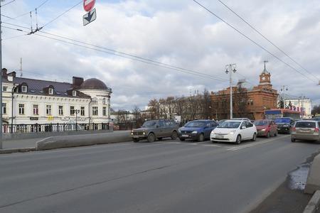 vladimir: VLADIMIR, RUSSIA -05.11.2015. Bolshaya Moskovskaya Street - Historic downtown