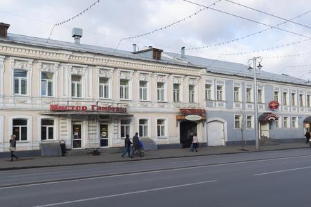 vladimir: VLADIMIR, RUSSIA -05.11.2015. A Bolshaya Moskovskaya Street - Historic downtown Editorial