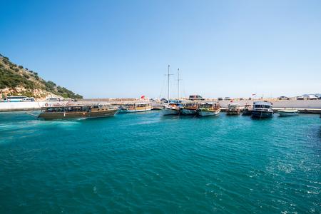 pleasure: Kemer, Turkey - 06.20.2014. Pleasure boats for a tourists near pier Editorial