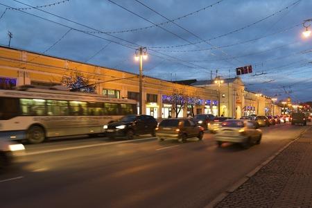 vladimir: VLADIMIR, RUSSIA -November 05.2015. A Shopping Arcade in the Bolshaya Moskovskaya Street  is Historic downtown
