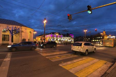 vladimir: VLADIMIR, RUSSIA -November 05.2015.  Bolshaya Moskovskaya Street  is  Historic downtown Editorial