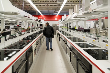 cookers: Moscow, Russia - February 02. 2016.  cookers  in Eldorado is large chain stores selling electronics Editorial