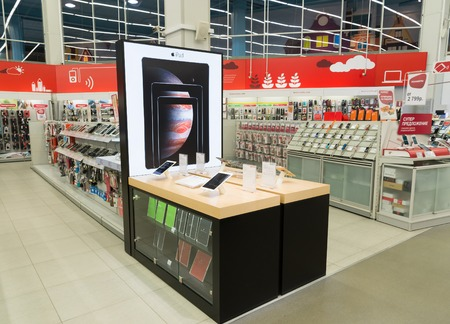 eldorado: Khimki, Russia - February 13. 2016. Interior Eldorado is a large chain stores selling electronics
