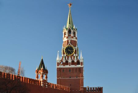 spasskaya: Spasskaya tower of a Moscow Kremlin, Russia Stock Photo