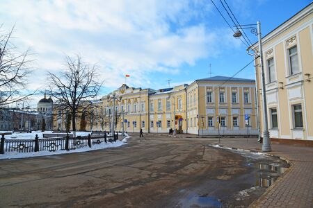 18th: Tver, Russia - February 27. 2016.  Administration of the city of Tver, built in the 18th century