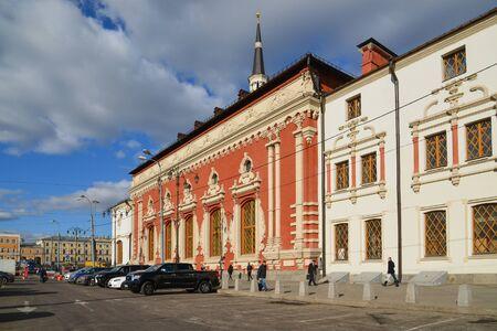 kazansky: Moscow, Russia - March 14, 2016. Kazansky railway station on a Komsomolskaya Square