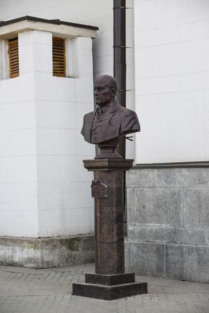 kazansky: Moscow, Russia - March 14. 2016. amonument to the famous architect  at Shchusev Kazansky railway station Editorial