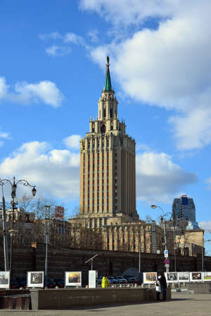 leningradskaya: Moscow, Russia - March 14, 2016. Leningradskaya Hotel on a Komsomolskaya Square
