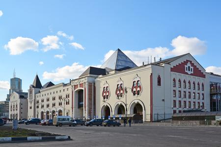 kazansky: Moscow, Russia - March 14, 2016. A Kazansky railway station from  street Novoruzanskaya