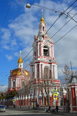 martyr: Moscow, Russia - March 14, 2016. Temple of the Great Martyr Nikita on a Staraya Basmannaya Street, Moscow, Russia