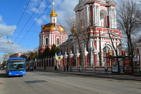martyr: Moscow, Russia - March 14, 2016. Temple of the Great Martyr Nikita on a Staraya Basmannaya Street, Editorial