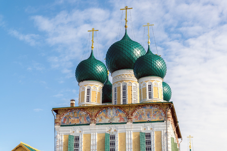resurrection: Resurrection Cathedral in a Tutaev, Russia. Golden Ring Travel