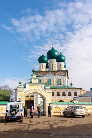 resurrection: Tutaev, Russia - March 28, 2016.  Resurrection Cathedral in a Tutaev, Russia. Golden Ring Travel Editorial