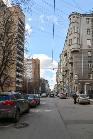 housing lot: Moscow, Russia - March 14, 2016. Architecture and a  general appearance Big Kozenyi alley Editorial