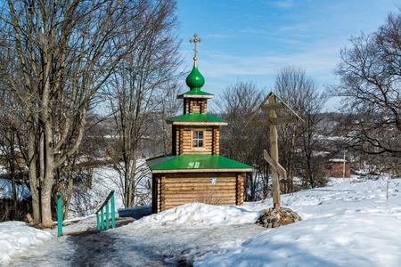 source: Chapel on the source of holy water in the city of Tutaev, Russia
