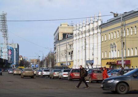 barracks: Russia, Yaroslavl-March 29.2016.  The building of the former barracks Voznesensk