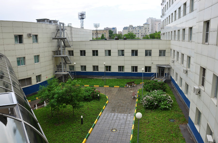 window treatments: Moscow, Russia - May 28.2015. A City Clinical Hospital number 24 Editorial