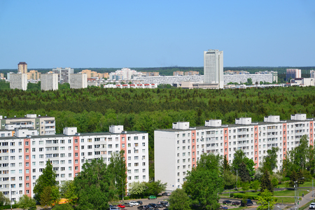 rise to the top: Top view of a Zelenograd Administrative District, Moscow